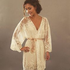 Garter Girl Loves: This lace robe for bride