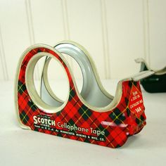 Vintage Scotch Tape Dispensers  Sleighs by MyPaisleyPrairie.