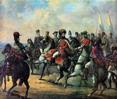 Mihai Viteazu (Michael the Brave) and his troops are pictured in a painting by Gheorghe Tattarescu Romanian People, Order Of The Dragon, Standardbred Horse, Art Database, Knights Templar, History Facts, Military History, Troops, Brave