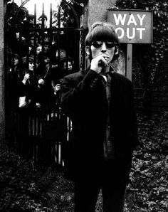 "George Harrison next to a sign that says ""Way Out""? Could that have been inspiration for The 1975?"
