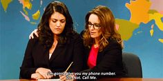 """When Tina was really harsh with new anchor host Cecily Strong. 