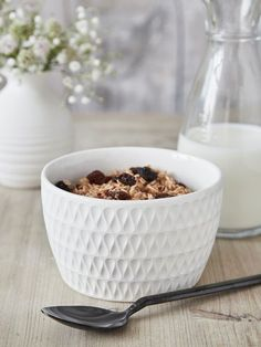 The beautiful shape and pattern of this cereal bowl are captivating and radiate a cool Scandi vibe.