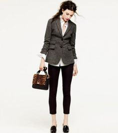 "J.Crew ""Looks We Love"" Fall Lookbook, r those penny loafers? How easy is this look"