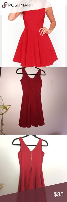 Red Skater Dress WORN ONCE! from lulus, amazing condition. super cute dress, perfect for any formal occasion! Lulu's Dresses