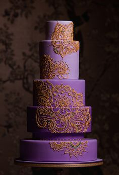 Mehndi design cake for Traditions magazine!
