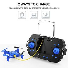 DROCON Mini RC Drone for Kids Portable Pocket Quadcopter with Altitude Hold Mode One-Key Take-Off & Landing Flips and Headless Mode Easy to Fly for Beginners Great Gift Avion Drone, Usb, Rc Drone, Flipping, Landing, Hold On, Great Gifts, Pocket, Mini