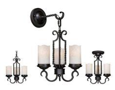 "Vesper 3-light 11"" Vintage Black Tri-Mount Light at Menards"