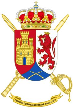 Archivo:Coat of Arms of the Spanish Army Troop Training Centre. Banner, Training Center, Coat Of Arms, Spanish, Army, Christmas Ornaments, Holiday Decor, Centre, Coats