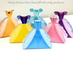 Disney Princess Party Favors Printable Favor Boxes on Etsy. So cute for princess party!
