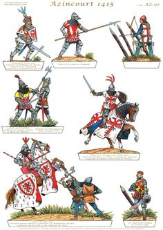Gorini Art - Soldatini di Carta Medieval Knight, Medieval Armor, Military Art, Military History, Battle Of Agincourt, Papercraft Anime, Knights Templar, Paper Models, Vintage Paper