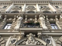 Have just one day to explore Riga, Latvia? My self-guided walking tour will show you the very best of what this lovely city has to offer! Riga Latvia, Walking Tour, Facade, Art Nouveau, Tours, Explore, Table Decorations, Balconies, Mansions