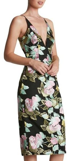 Dress the Population 'Mariah' Embroidered Sheath Dress