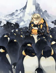 America, what are you doing with those penguins? haha