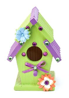 Ribbon Roof Birdhouse #kids #craft