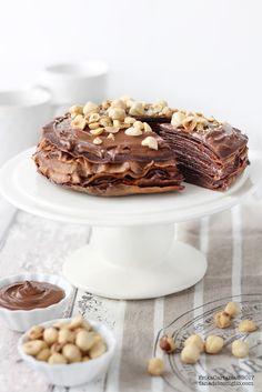 Chocolate Hazelnut Crepe Cake(recipe in Italian)