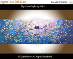 Silhouette birds Art gift for her gift for mom by QiQiGallery