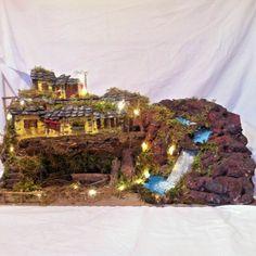 """Presepe artigianale con luci """" La Cascata"""" art 2856  (Pellegrini Story). Spedizione gratis Portal, Pile, Christmas Tree, Holiday Decor, Outdoor, Ebay, Home Decor, Ideas, Environment"""