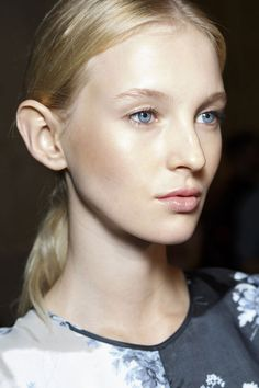 Gorgeous skin with a natural glow at Paul Smith #LFW S/S15