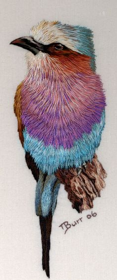 These astounding needlework pieces are by self-taught embroiderer Trish Burr from Cape Town. She has written several books on the technique...