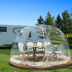 Bubble House, Bubble Tent, Camping Gazebo, Outdoor Camping, Camping Ideas, Camping Hacks, Glamping, Outdoor Living, Outdoor Spaces