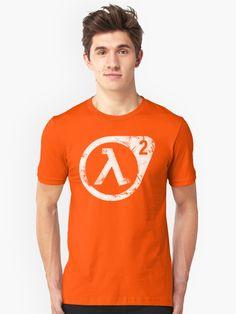 White' T-Shirt by Remus Brailoiu Gordon Freeman, 2 Logo, White T, My T Shirt, Tshirt Colors, Heather Grey, Classic T Shirts, Shirt Designs, Slim