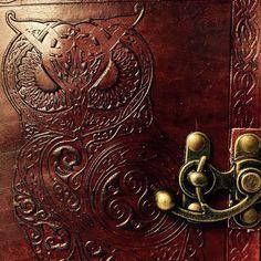 Leather Journal // Handmade Guardian of the Night by EldariaRose