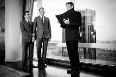 Ralph & Dave -- Chris officiating - gay wedding