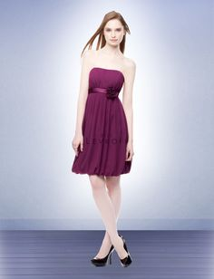 2012 Latest Empire Strapless Knee-length Bridesmaid Dress Style 108, bridesmaid dresses