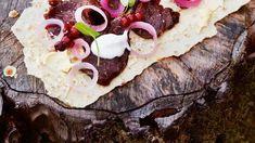 Oppskrift på gravet hjort av Heidi Bjerkan | DN Alsace, Tacos, Mexican, Ethnic Recipes, Food, Alcohol, Essen, Meals, Yemek