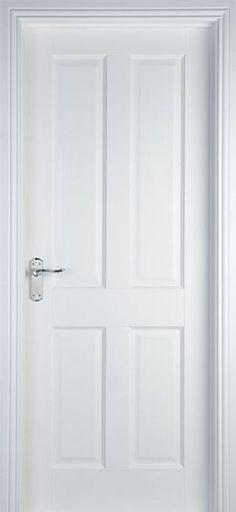 weiße innentüren design 4 paneele