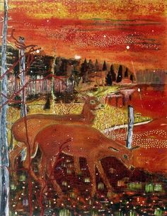 Peter Doig Red Deer, 1990. oil on canvas, 237.5 x 182.6 cm