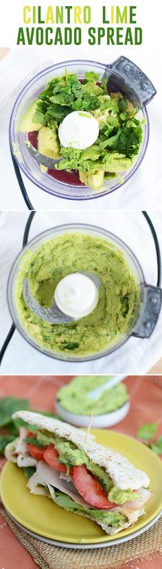 Cilantro Lime Avocado Spread via FitFoodiefinds.com