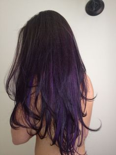 Long Purple Ombre Hairstyle: I want to do this, just hints of purple underneath