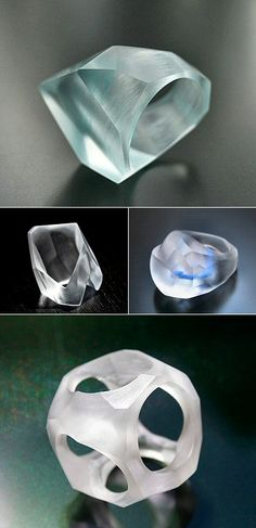 TheCarrotbox.com modern jewellery blog : obsessed with rings // feed your fingers!: Doru Dumitrescu / Acrylic Ice Jewelry