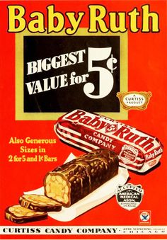 The 5 cent candy bar...... Can you imaging what size 5 cents would be today?! Not even a nugget. Have you even noticed they took the cent sign off your keyboard? It's buried way down in special characters now.