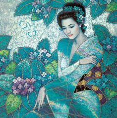 Les Tableaux de Karl Bang - Entre Asie et Europe - Ame Vietnamienne - Em là cô gái Pháp mà hồn em là người Việt