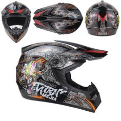 Cyber UX-28 Lightning Mens Off Road Dirt Bike MX DOT Motocross Helmets
