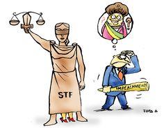 """NÃO É FUNÇÃO DO SUPREMO FIXAR O RITO DO IMPEACHMENT. """"O ministro Marco Aurélio Mello, do Supremo Tribunal Federal (STF), afirma que o estabelecimento de um novo rito de impeachment não é uma atribuição do STF. """"O Supremo não estabelece rito, ele apenas verifica se está em harmonia ou não o procedimento com o direito estabelecido, e há uma lei a ser observada, que é a Lei nº 1.079"""", esclareceu."""""""
