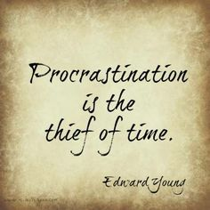 Procrastination is the thief of time. #business #mireilleryan #quote