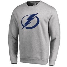 sports shoes c9c9d 22bd9 Buy Men s Tampa Bay Lightning Fanatics Branded Ash Primary Logo Pullover  Sweatshirt at the official online