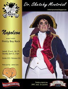 Dr. Sketchy Montréal: Napoléon avec/with Pretty Boy Rock