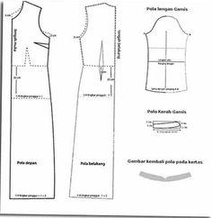 Pola Kemeja Lelaki Lengan Panjang Sewing Project Baju