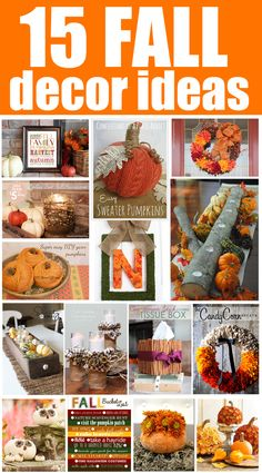 15 Fall Decor Ideas. Ideas to use from September through November!