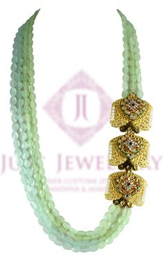 50 shades of green, with splendid colors and golden pendant.  Price - 14,500/-  Place your order by sending us an email to justjewellery08@gmail.com