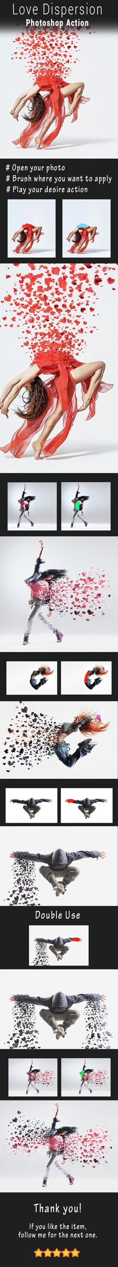 Love Dispersion Photoshop Action