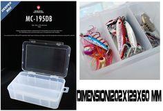 Tackle Box Scatola Porta Accessori Moncross Trasp  202x129x60mm - EUR 11.50