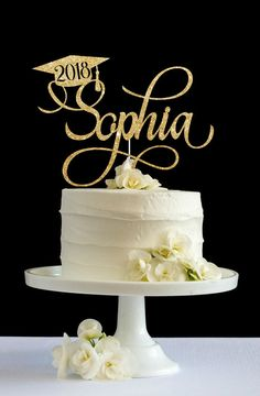 Primera Comunion cake topper, Holy communion cake topper, First communion cake topper, glitter cake topper, cake decor. Graduation Cake Toppers, Graduation Decorations, College Graduation Cakes, Graduation Cake Designs, Graduation Cupcakes, Graduation Ideas, Cake Paris, Basic Cake, Ideas Party