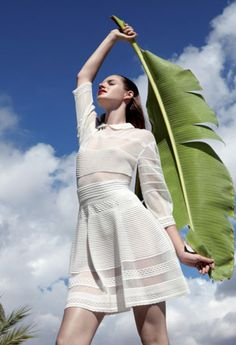 #MMissoni Catalogue | #White cotton Dress | Spring 2013