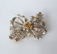 Vintage Art Deco Style Brooch Double Bow by MargsMostlyVintage, SOLD But isn't it gorgeous!