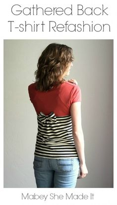 T-shirt refashion that turns a plain tee into something head-turning. This t-shirt refashion tutorial has step-by-step directions and easy to follow photos.